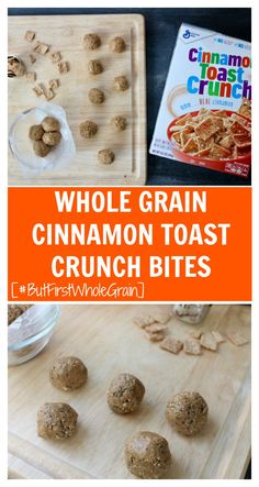 Whole Grain Cinnamon Crunch Bites make the perfect whole grain snack when you're craving something flavorful AND fiber-filled. A perfect grab-and-go snack or lunchbox treat! #snackbites #cinnamontoastcrunchrecipes #cinnamonsnackbites #cinnamoneasydessert #easysnackbites #wholegrainrecipes