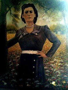 mamma  di  Maddalena.....50x70  olio  su  tela...cristina De biasio