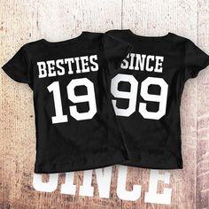 Best Friends Women Shirts Besties Since by SayYouLoveMeGifts