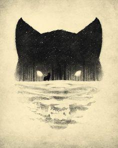 Wilk i zima - Pomsył na tatuaż