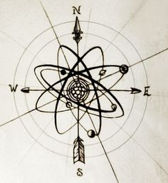 Resultado de imagem para tatuagem átomo