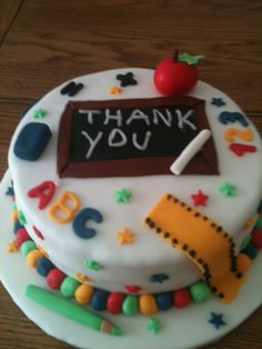 Thank you teacher cake - For all your cake decorating supplies, please visit craftcompany.co.uk