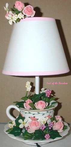 Floral Tea Cup Lamp