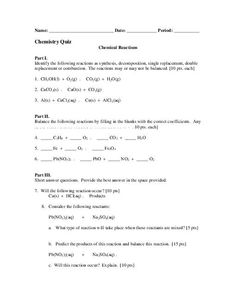 Predicting Products of Synthesis and Decomposition Reactions ...