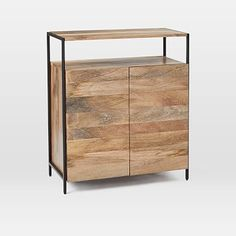 Industrial Storage Small Cabinet, Mango, Blackened Steel is part of Living Room Storage Industrial - Office Storage, Kitchen Storage, Small Storage Cabinet, Entryway Organization, Basement Storage, Door Storage, Organization Ideas, Industrial Storage Cabinets, Oversized Furniture