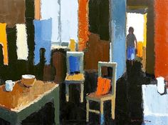 Donald McIntyre (Brit 1923-2009) Coming into the kitchen
