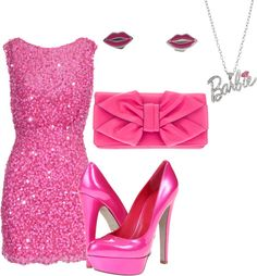 """""""I'm a Barbie Girl"""" by jubi493 on Polyvore I would not wear the jewelry."""