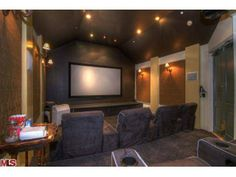 What an interesting shaped home theater. Beverly Hills, CA Coldwell Banker Residential Brokerage