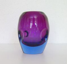 Flavio Poli - Murano - um 1950 - Große XXL Sommerso Vase in Bestzustand -Rarität