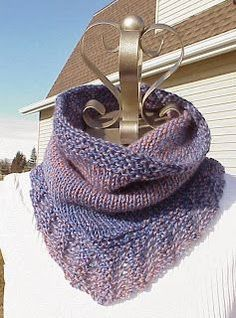 Bridger Cowl ... this cowl is SUPER fast, uses worsted weight or Aran yarn & a US size 10 circular needle. begin the cowl in the center front & work flat while making the simple repeating lace pattern. then join & work in the round. this cowl is warm, squishy & makes a wonderful gift.: