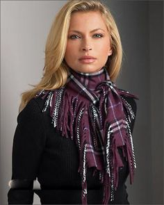 Pretty Scarf with Fringe