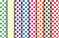 Rainbow Themed Color Palette Polka Dots Free Digital Scrapbook Paper