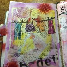 Mixed media journal page