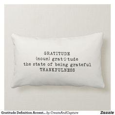 Gratitude Definition Accent Lumbar Pillow