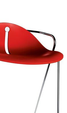 Desiro DOT chair detail. The dot colour accent available in 5 colours