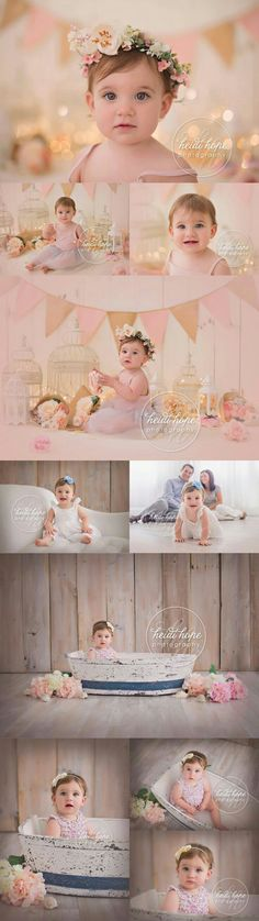 At 6 months old, babies will rock back and forth on hands and knees. By 9 months old, babies typically creep and crawl. Children Photography, Newborn Photography, Family Photography, 1st Birthday Photos, Baby 1st Birthday, Baby Shooting, First Year Photos, Baby Girl Pictures, Foto Baby