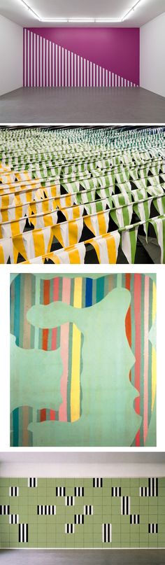 Daniel-Buren via http://www.danielburen.com/  Quilt inspiration is  everywhere if  you open your eyes to seeing it.