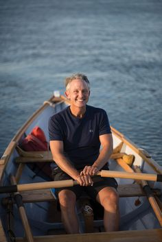"""A few years ago, Rich Wills started plotting his Kittery-to-Campobello trip, pouring over nautical charts on lunch breaks, spending evenings scouting islands and coves where he could lay up in an emergency. Rowing at his usual rate, 32 strokes per minute, he figured he could cover 20 to 30 miles a day. """"That comes out to 125,000 strokes to Canada,"""" he noted.   📷 Dave Dostie"""
