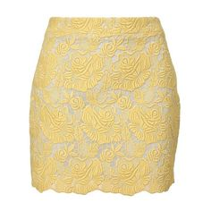 STELLA MCCARTNEY Macramé lace mini-skirt ($885) ❤ liked on Polyvore