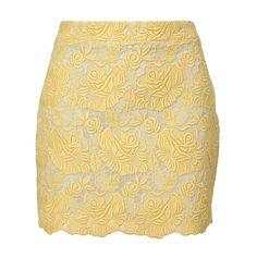 STELLA MCCARTNEY Macramé lace mini-skirt ($890) ❤ liked on Polyvore