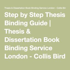 university of london thesis binding regulations