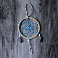 Crystal Dreams Dreamcatcher - in Diameter by WildwoodCeramics on Etsy Dream Catcher, Handmade Items, My Etsy Shop, Dreams, Group, Crystals, Amazing, Board, Creative