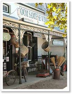 Oom Samipse Wine shop in Stellenbosch, South Africa