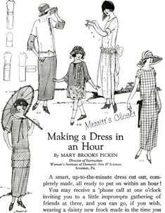 d5a4eb39063 One Hour Dress 1920s Flapper Girl Dress Vintage Sewing 1920s Dress