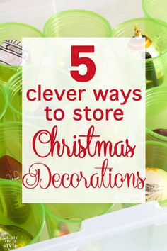 Love these clever ways to repurpose items you already own to organize and safely store your Christmas decorations.