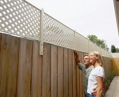 Outstanding 101 Cheap DIY Fence Ideas for Your Garden, Privacy, or Perimeter A security fence stipulates the best in privacy and safety. Composite fences comprise of both Diy Privacy Fence, Privacy Fence Designs, Outdoor Privacy, Backyard Privacy, Diy Fence, Backyard Fences, Garden Fencing, Backyard Projects, Backyard Landscaping