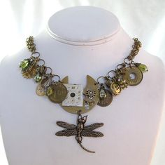 Steampunk Dragon Fly Necklace by Mystic Pieces
