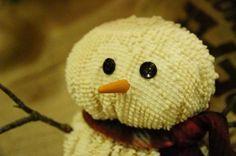 Tea dyed chenille snowman