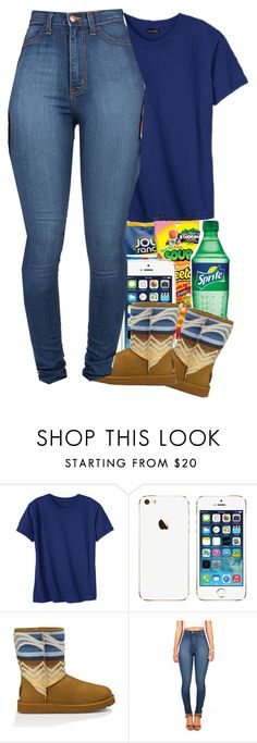 """""""Bored"""" by liveitup-167 ❤ liked on Polyvore featuring Hanes and UGG Australia"""