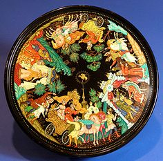 Russian lacquer boxes from Palekh