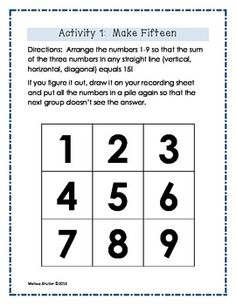 Math Brain Teasers for Building Number Sense
