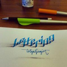 Tolga Girgin и Искусство Леттеринга Tolga Girgin, каллиграфия, 3D, Искусство, длиннопост, леттеринг