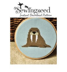 INSTANT DOWNLOAD Walrus Cross Stitch Pattern by Sewingseed on Etsy, $5.00