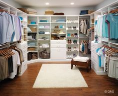 Walking Closet- A chandelier and a ottoman in the middle makes it complete!