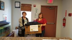 Haven Health of Safford organized a coat drive and donated the coats to children in need. The first box collected went to Easter Seals Blake Foundation's Palomita Children's Center.