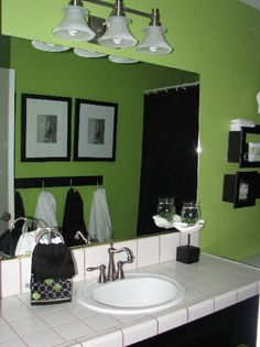 Lime Green Bathrooms On Pinterest Green Bathrooms Green Bathroom Decor And