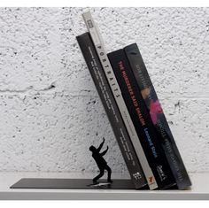 "ARTORI Design ""Falling Books"" Metal Bookend Decorative"