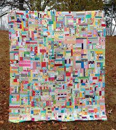 super scrap happy top by crazymomquilts, via Flickr