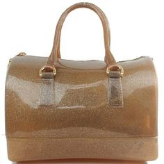 This item Sells at http://www.handbagloverusa.com/ Designer Inspired Colorful Patent Jelly Candy Bag Tote Satchel Boston Handbag Purse in Shinny Bronze: Clothing