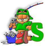 Pescando Alfabeto Garfield. | Oh mon Alfabetos!