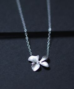 dainty orchid necklace