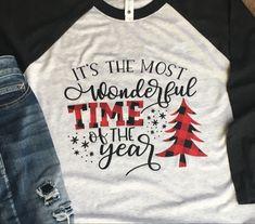Burlap Christmas Tree, Heather White, White Bodies, Tee Shirts, Tees, Time Of The Year, Buffalo Plaid, Wonderful Time, Types Of Shirts