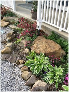 42 Inspiring Rock Garden Landscaping Ideas - Your Rock Garden Landscape. Not every landscape is perfect and having a rock garden can help in many of those areas. You might have an area that is ju. Landscaping With Rocks, Front Yard Landscaping, Backyard Landscaping, Landscaping Ideas, Backyard Ideas, Natural Landscaping, Luxury Landscaping, Landscaping Software, Small Front Gardens