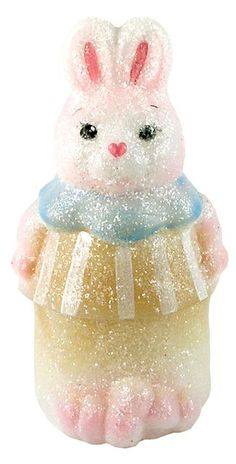 Fenton Standing Bunny Box, Springtime Glitter. This is a very pretty bunny!