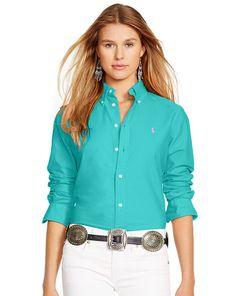 4319cd254 Custom-Fit Cotton Oxford Shirt - Polo Ralph Lauren Shirts  amp  Blouses -  RalphLauren