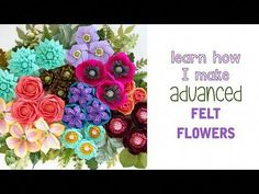 Welcome to fLOhRA Design where you will find video tutorials and PDF Templates for learning how to make felt flowers. Cloth Flowers, Fabric Flowers, Paper Flowers, Dyi Flowers, Material Flowers, Felt Diy, Felt Crafts, Dyi Crafts, Creative Crafts